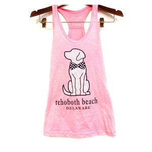 Tops - Rehoboth Beach Pink Dog Racer Back Tank P Small